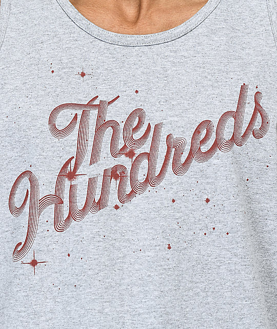 The Hundreds Search Slant Grey Tank Top