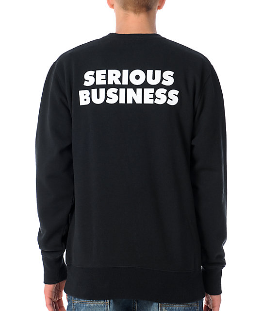 The Hundreds Serious Black Crew Neck