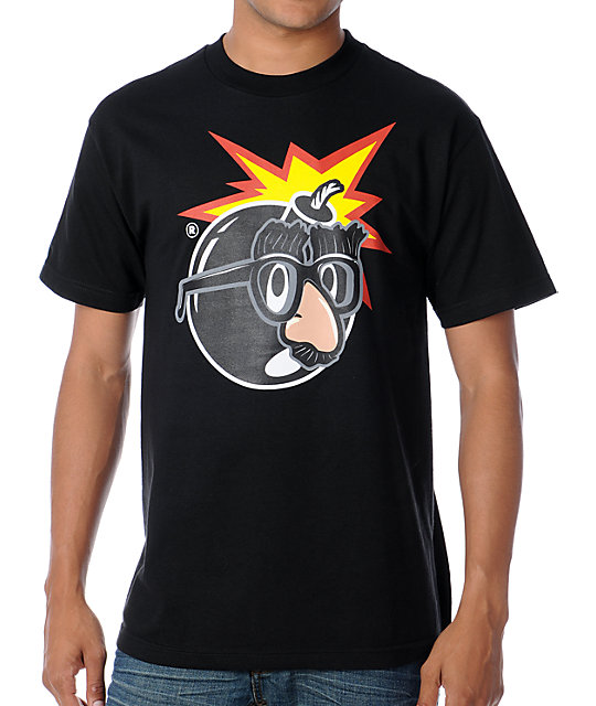 The Hundreds Serious Black T-Shirt