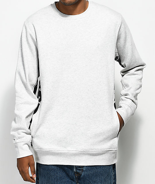 934fffce0401 The Hundreds Sidewinder Athletic Heather Grey Crew Neck Sweatshirt ...