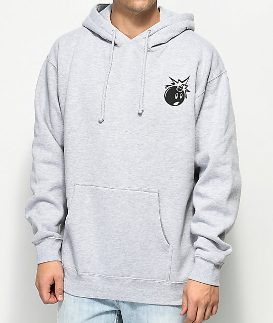 The Hundreds Simple Adam sudadera gris con capucha