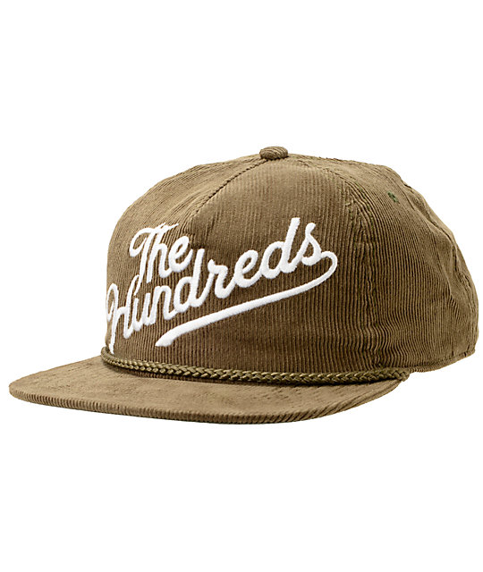 The Hundreds Slant Brown Corduroy Snapback Hat