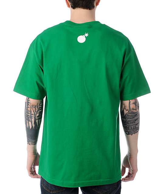 The Hundreds Smoke Adam Kelly Green T-Shirt