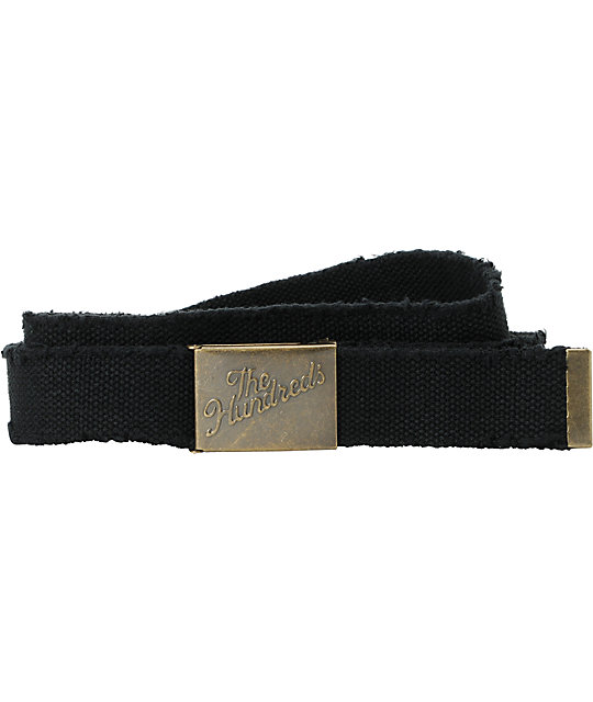 The Hundreds Sneak Scout Black Web Belt