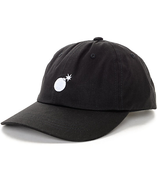 81006c6876ee2 The Hundreds Solid Bomb Black Strapback Hat