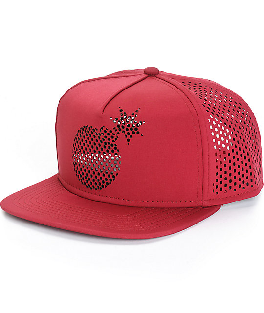 80ac85d401649 The Hundreds Solid Bomb Perforated Snapback Hat