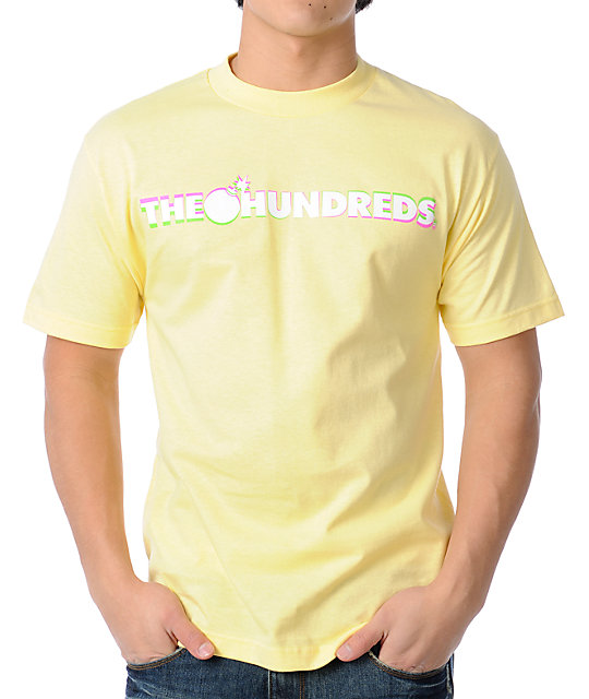 The Hundreds Solid Logo Yellow T-Shirt