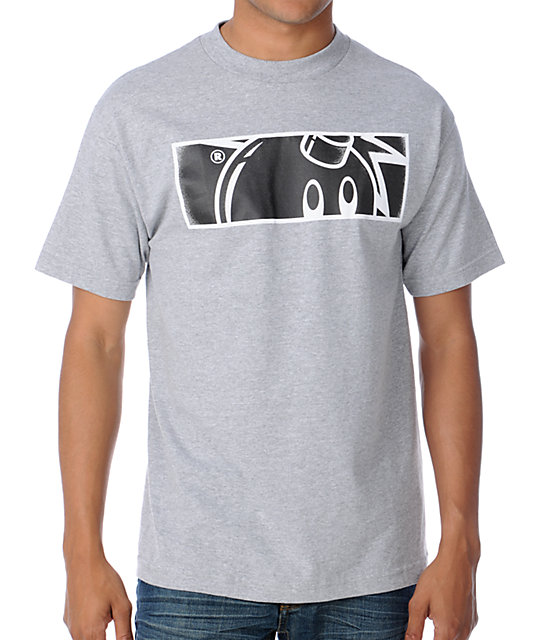 The Hundreds Stipple Rectangle Grey T-Shirt