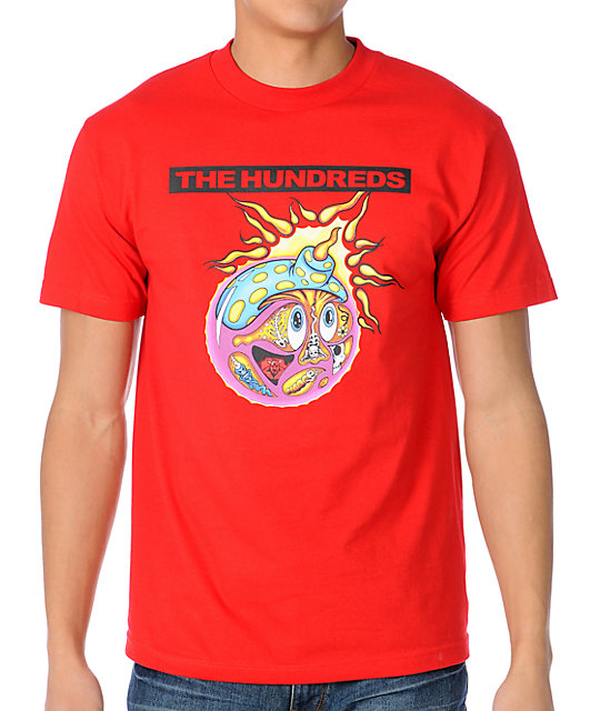 The Hundreds Sub Adam Red T-Shirt