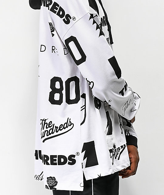 The Hundreds Swap White Hooded Long Sleeve Shirt