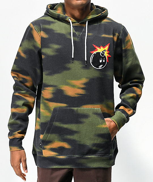 The Hundreds Switchback Camo Hoodie