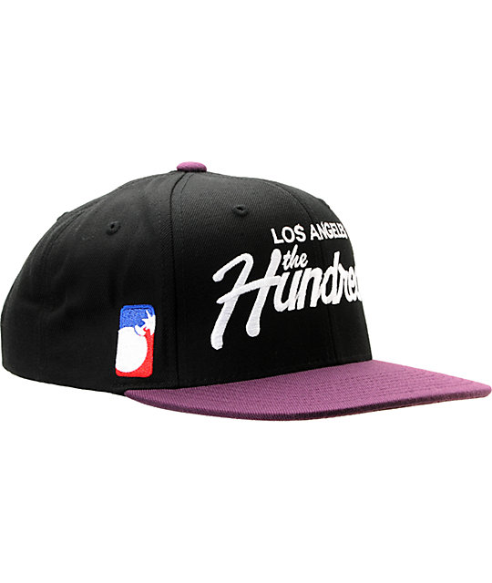 The Hundreds Team Black & Purple Snapback Hat