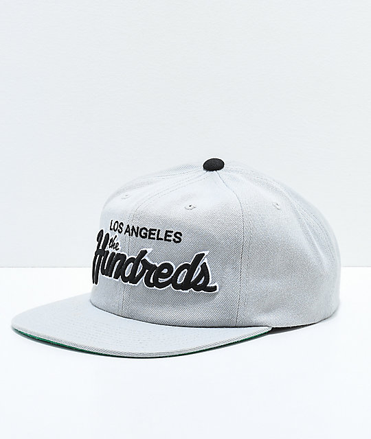 The Hundreds Team Two Grey Snapback Hat