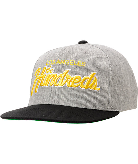 ed655e0837eb9 The Hundreds Team Two Heather Grey   Black Snapback Hat