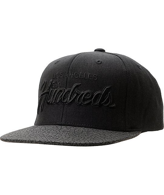 a2bdd02f445 The Hundreds Team Two Tonal Black Snapback Hat