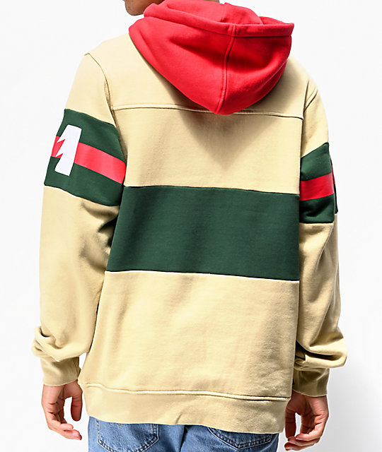 The Hundreds Tilly Khaki, Red & Green Hoodie