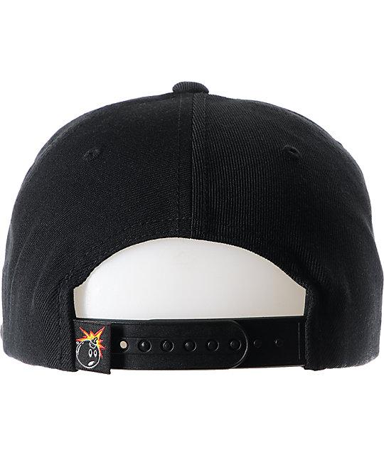 b14357c5d98 ... The Hundreds Town Black Snapback Hat