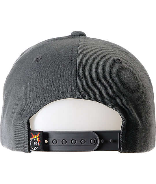 The Hundreds Town Charcoal Grey Snapback Hat