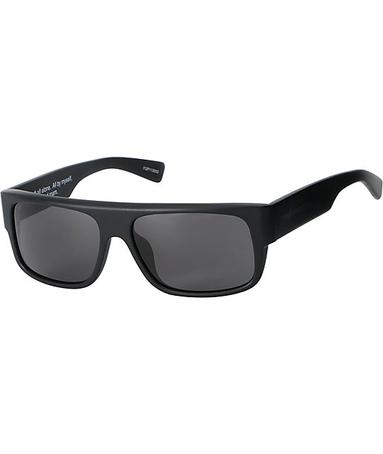 26d7d140c0b2 The Hundreds Valens Matte Black Sunglasses | Zumiez