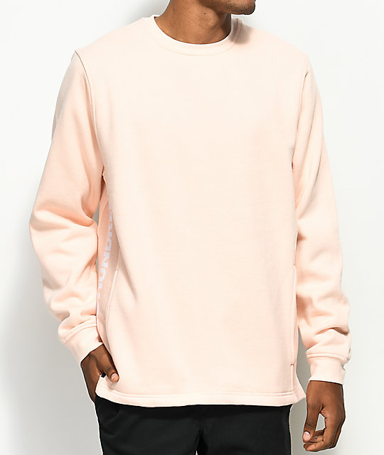 The Hundreds Valley Light Pink Crew Neck Sweatshirt