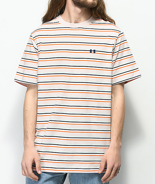 The Hundreds Vince camiseta en color malva a rayas