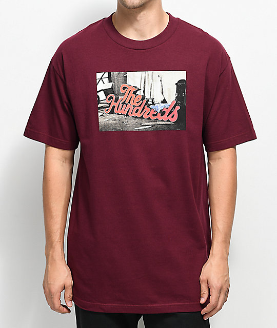 The Hundreds Wearhouse camiseta en color borgoño