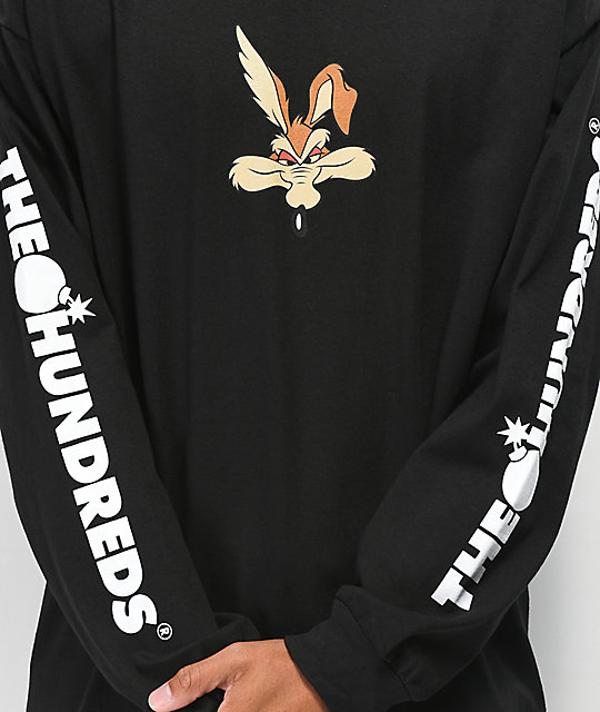 The Hundreds x ACME Wil-E camiseta de manga larga negra