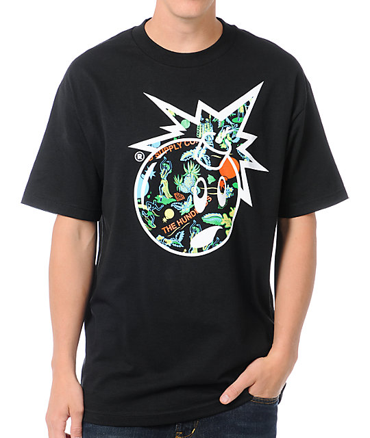 The Hundreds x Diamond Supply Adam Bomb Black Logo T-Shirt