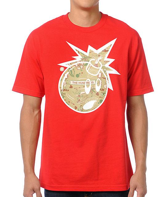 4add246b1 The Hundreds x Diamond Supply Adam Bomb Red Logo T-Shirt | Zumiez
