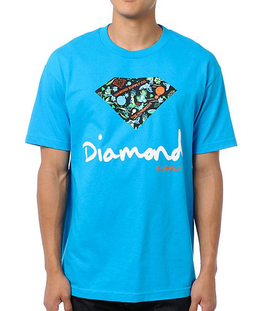 c6f156c72 The Hundreds x Diamond Supply Logo Turquoise T-Shirt | Zumiez