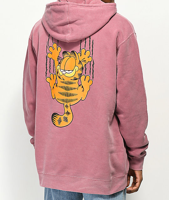 The Hundreds x Garfield Bar Maroon Pigment Hoodie