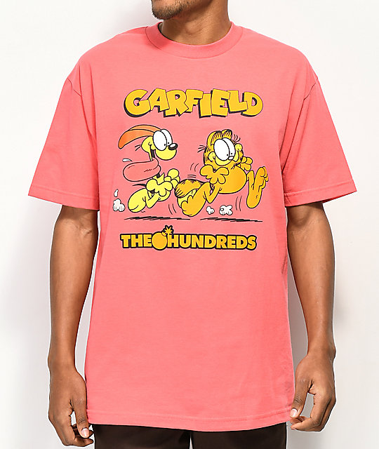 The Hundreds x Garfield Chase Coral T-Shirt