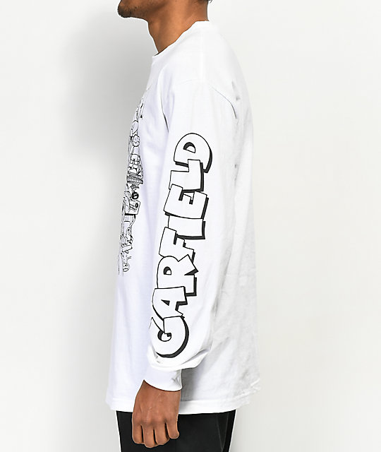 The Hundreds x Garfield Messy White Long Sleeve T-Shirt