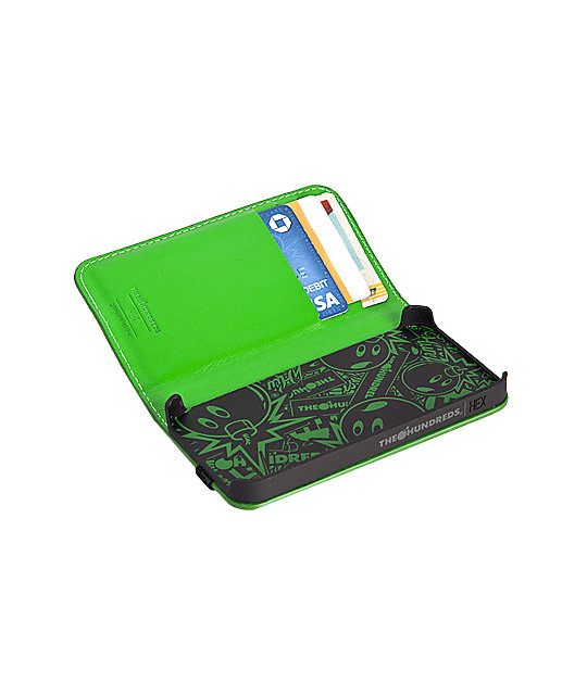 The Hundreds x Hex Green Hundreds Code iPhone 4 Wallet