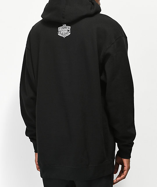 The Hundreds x Mr. Cartoon Bronson Black Hoodie