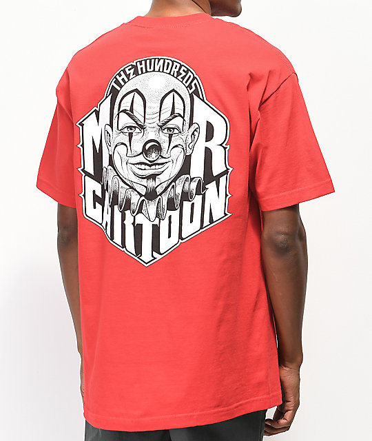 The Hundreds x Mr. Cartoon Clown camiseta roja con bolsillo