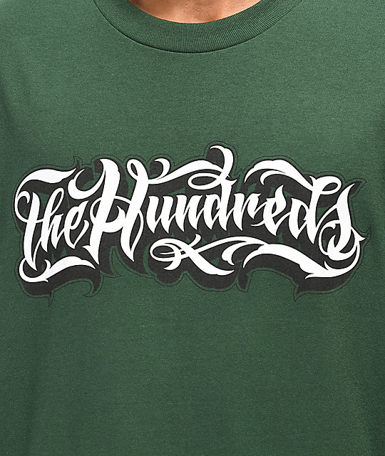 The Hundreds x Mr. Cartoon Wordmark camiseta verde