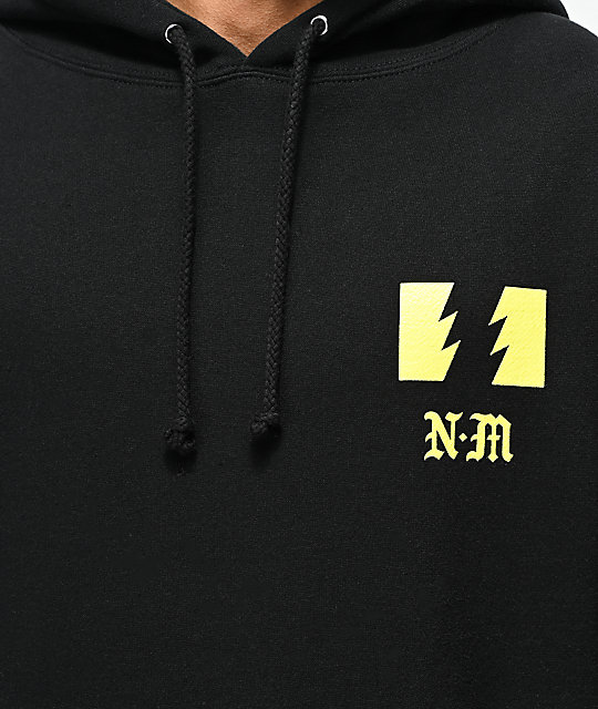 The Hundreds x Never Made Warning Black Hoodie