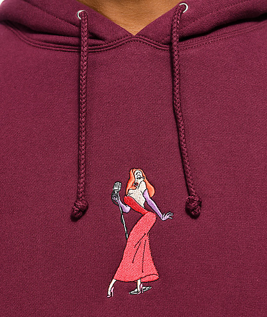 The Hundreds x Roger Rabbit Jessica Burgundy Hoodie