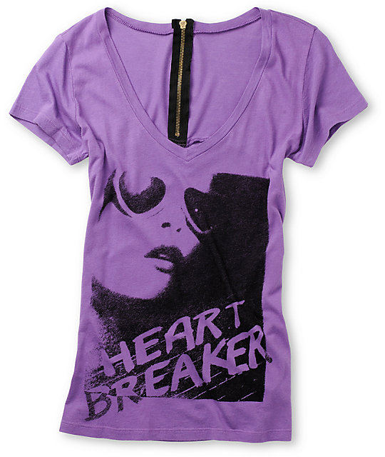 The Kitchen Heartbreaker Zipper Purple T-Shirt