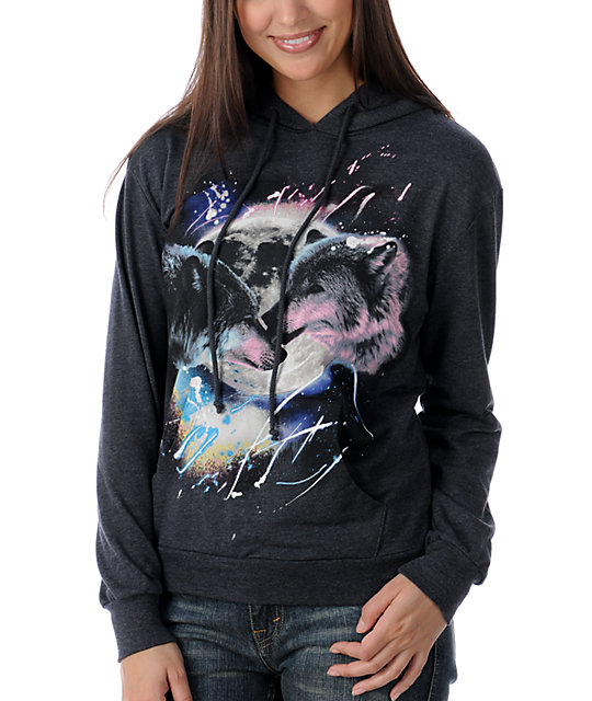 The Kitchen Wolves Moon Black Pullover Hoodie