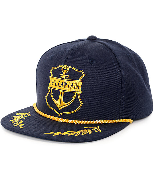 The Mad Hueys Captain Navy Snapback Hat  3980fcadf8c