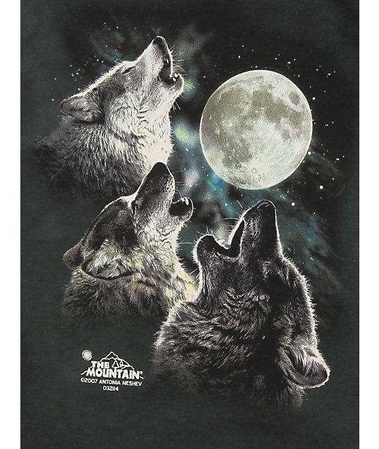 8436123901b ... The Mountain Boys Three Wolf Moon Glow T-Shirt