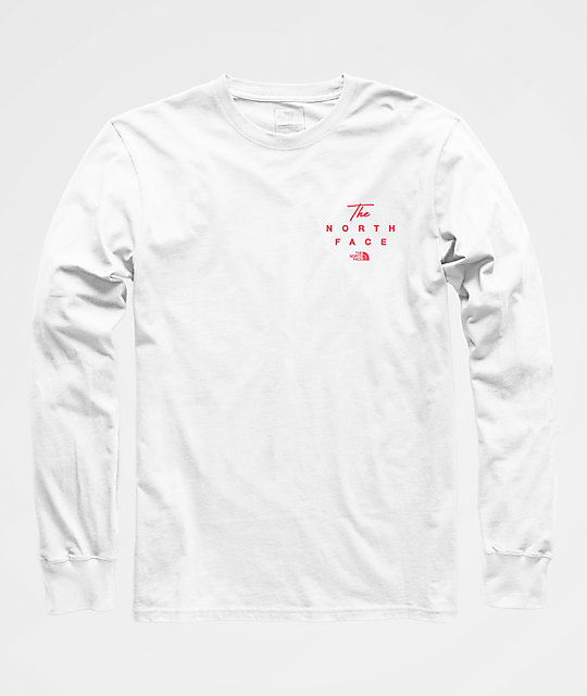 803102040 The North Face 90s Script White Long Sleeve T-Shirt