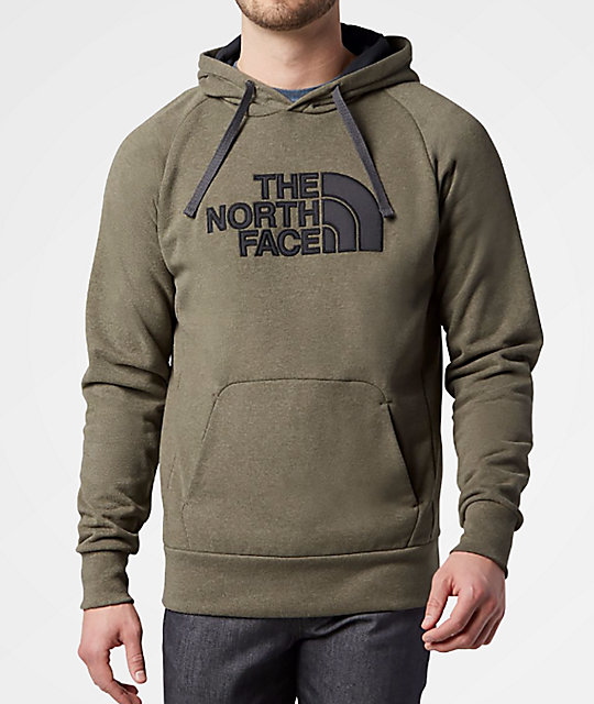 f77c56592 The North Face Avalon Half Dome Burnt Olive Green & Asphalt Grey Hoodie