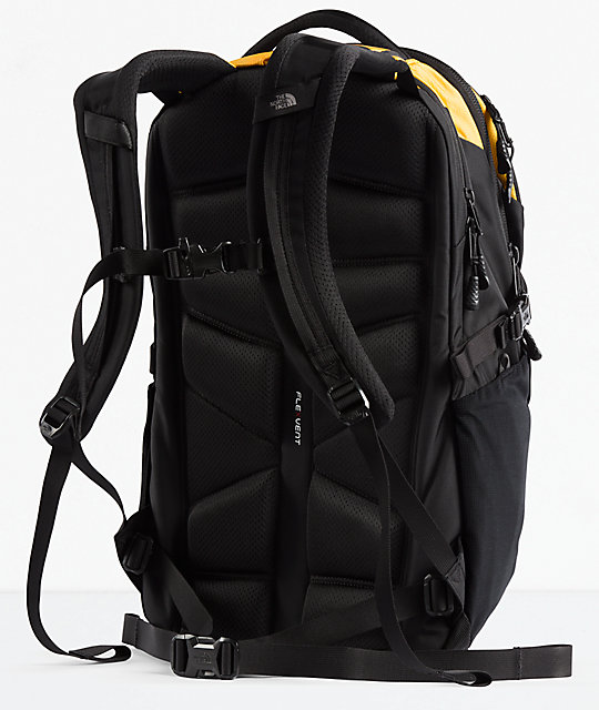 ... The North Face Borealis Yellow   Black Backpack ... cb2e7dde0664