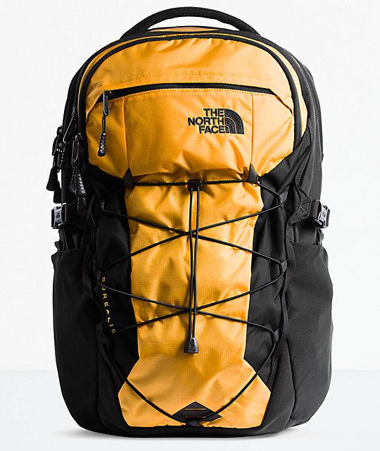 640009e95 The North Face Borealis Yellow & Black Backpack