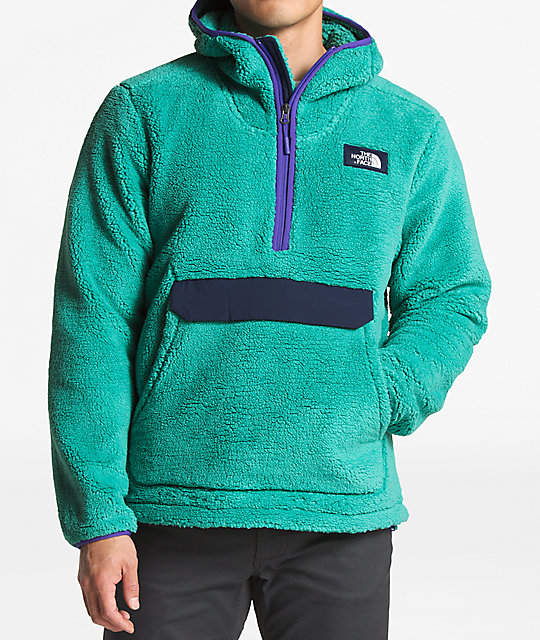 7d91a9e9d3 The North Face Campshire Green   Navy Anorak Fleece Hoodie