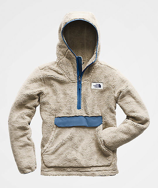 f2c5c13d92 ... The North Face Campshire White   Blue Anorak Fleece Hoodie