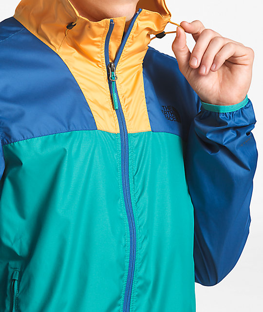 189d75158 The North Face Cyclone 2 Teal, Blue & Yellow Windbreaker Jacket